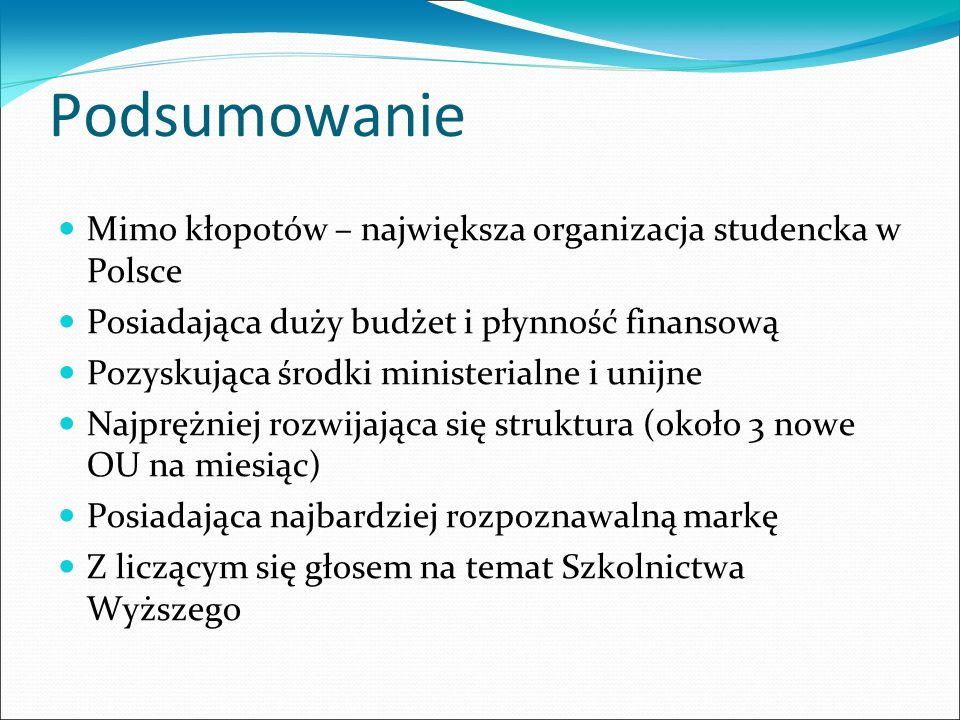 Podsumowanie Mimo kłopotów – największa organizacja studencka w Polsce