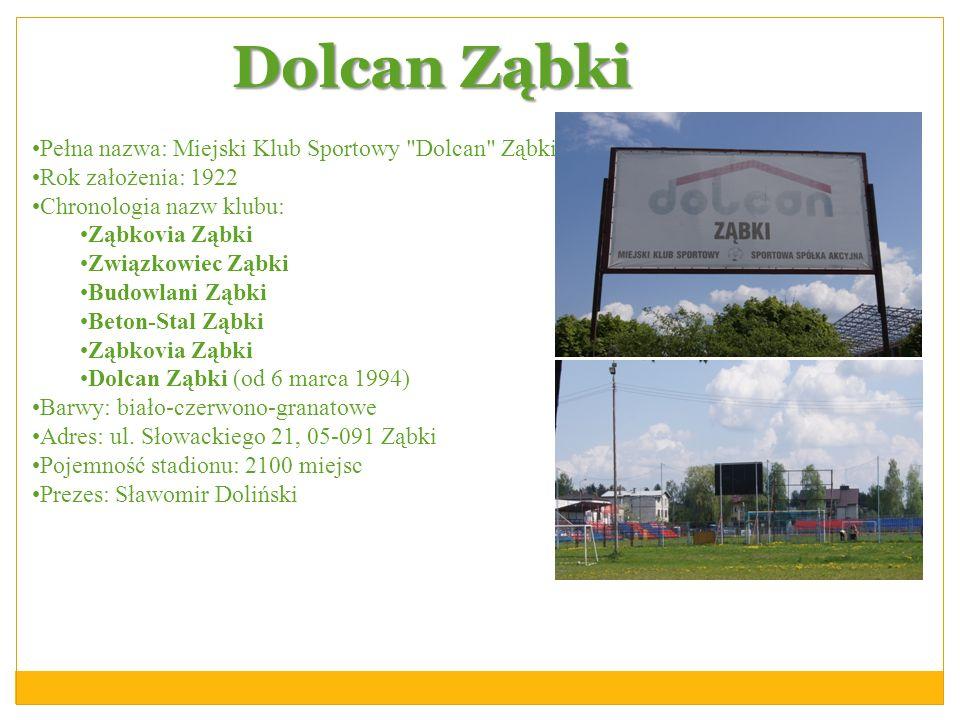 Dolcan Ząbki Pełna nazwa: Miejski Klub Sportowy Dolcan Ząbki