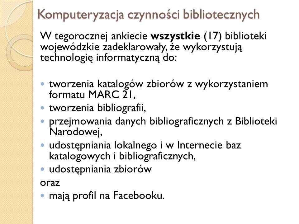 Komputeryzacja czynności bibliotecznych