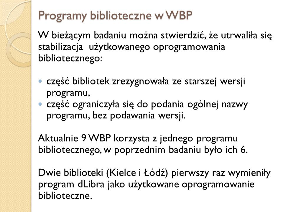 Programy biblioteczne w WBP