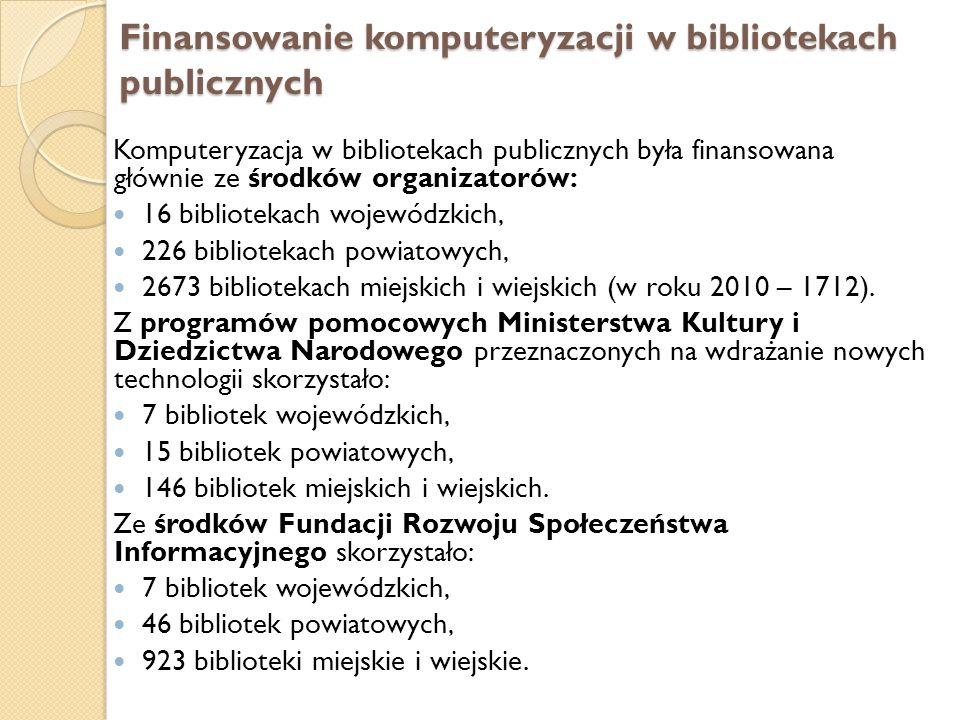 Finansowanie komputeryzacji w bibliotekach publicznych