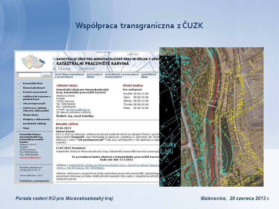 Współpraca transgraniczna z ČUZK