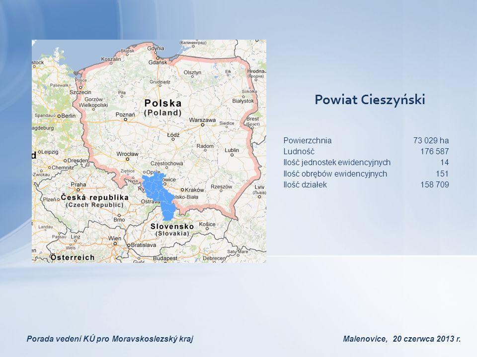 Powiat Cieszyński Powierzchnia 73 029 ha Ludność 176 587