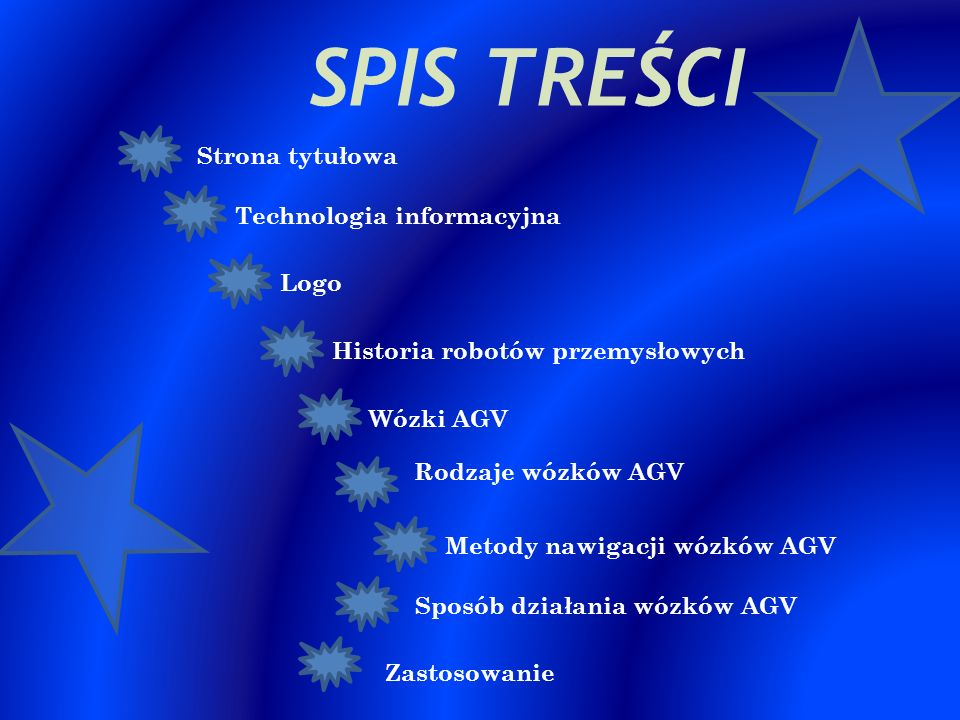 SPIS TREŚCI Strona tytułowa Technologia informacyjna Logo