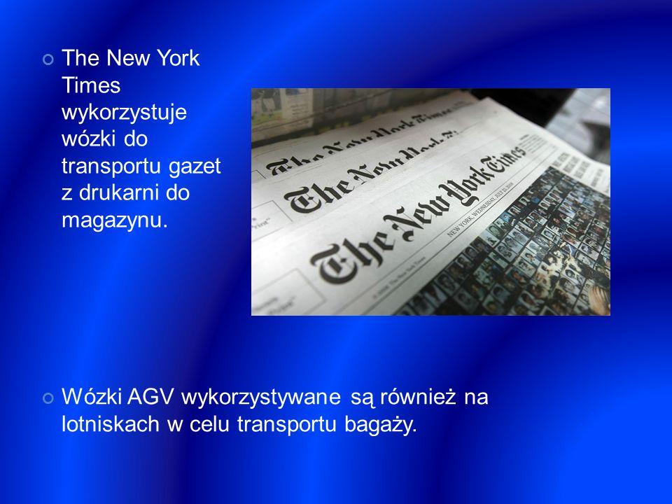 The New York Times wykorzystuje wózki do transportu gazet z drukarni do magazynu.