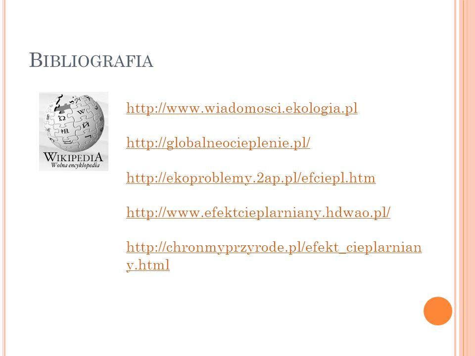 Bibliografia http://www.wiadomosci.ekologia.pl
