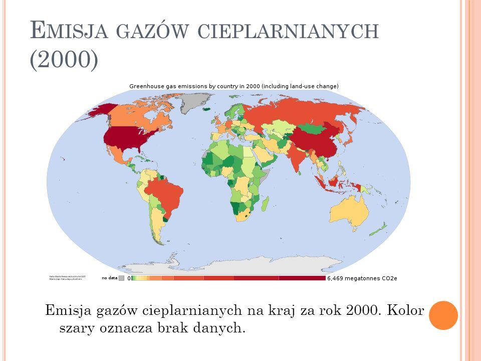 Emisja gazów cieplarnianych (2000)