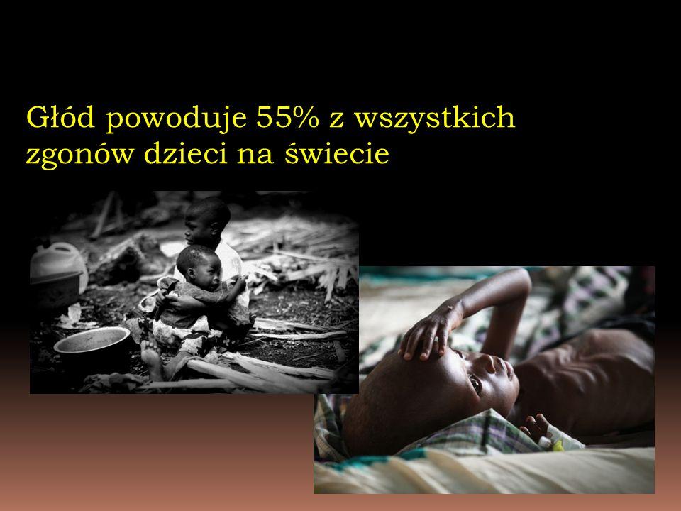 Głód powoduje 55% z wszystkich