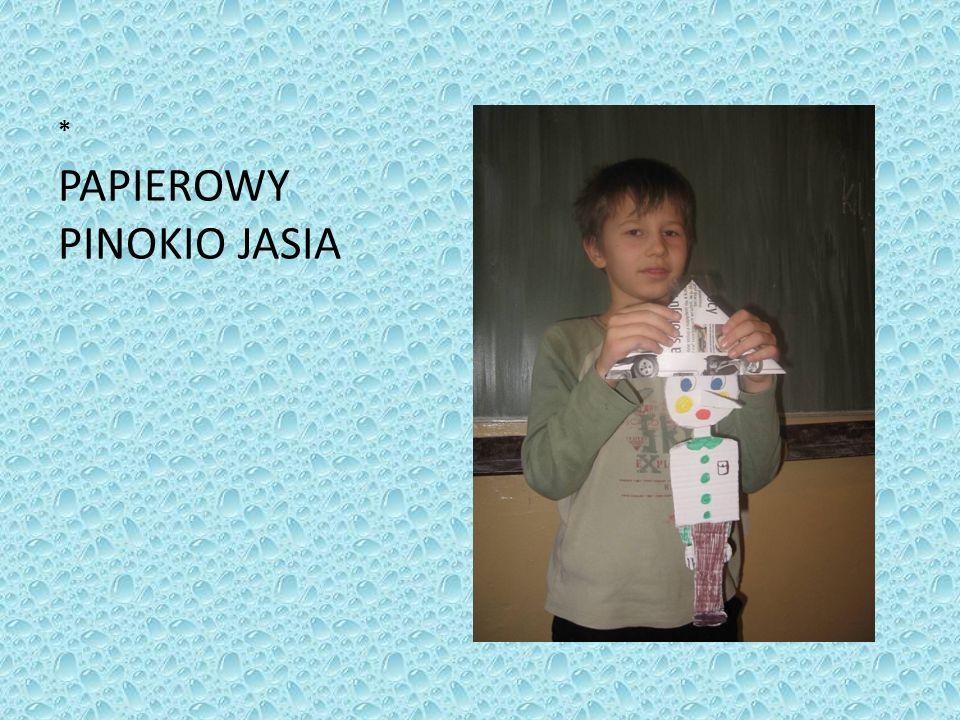 PAPIEROWY PINOKIO JASIA