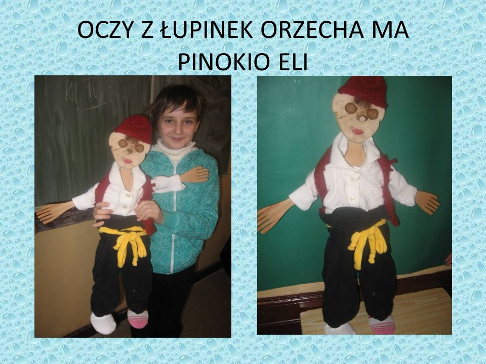 OCZY Z ŁUPINEK ORZECHA MA PINOKIO ELI