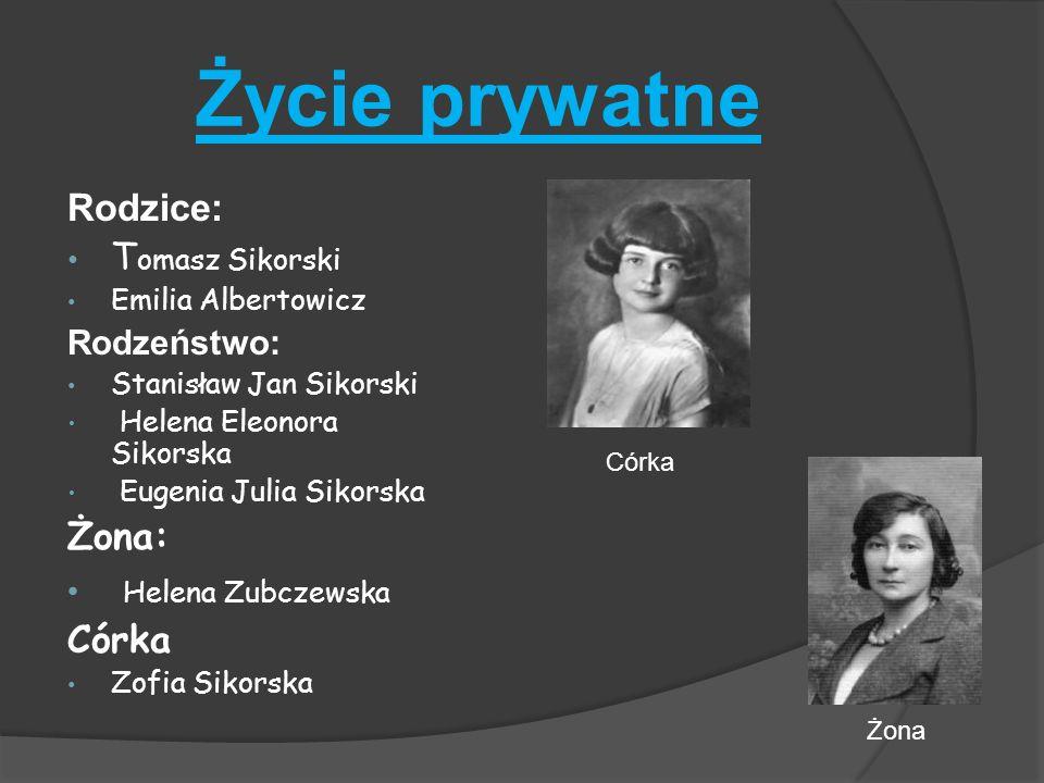 Życie prywatne Helena Zubczewska Rodzice: Tomasz Sikorski Żona: Córka