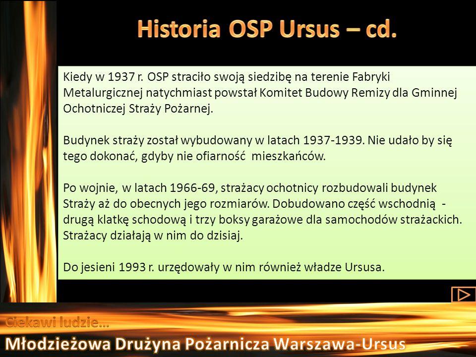 Historia OSP Ursus – cd. Młodzieżowa Drużyna Pożarnicza Warszawa-Ursus