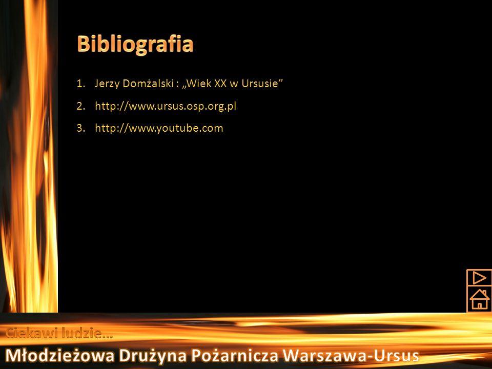 Bibliografia Młodzieżowa Drużyna Pożarnicza Warszawa-Ursus