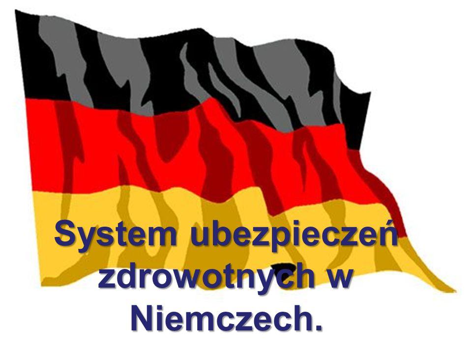 System ubezpieczeń zdrowotnych w Niemczech.