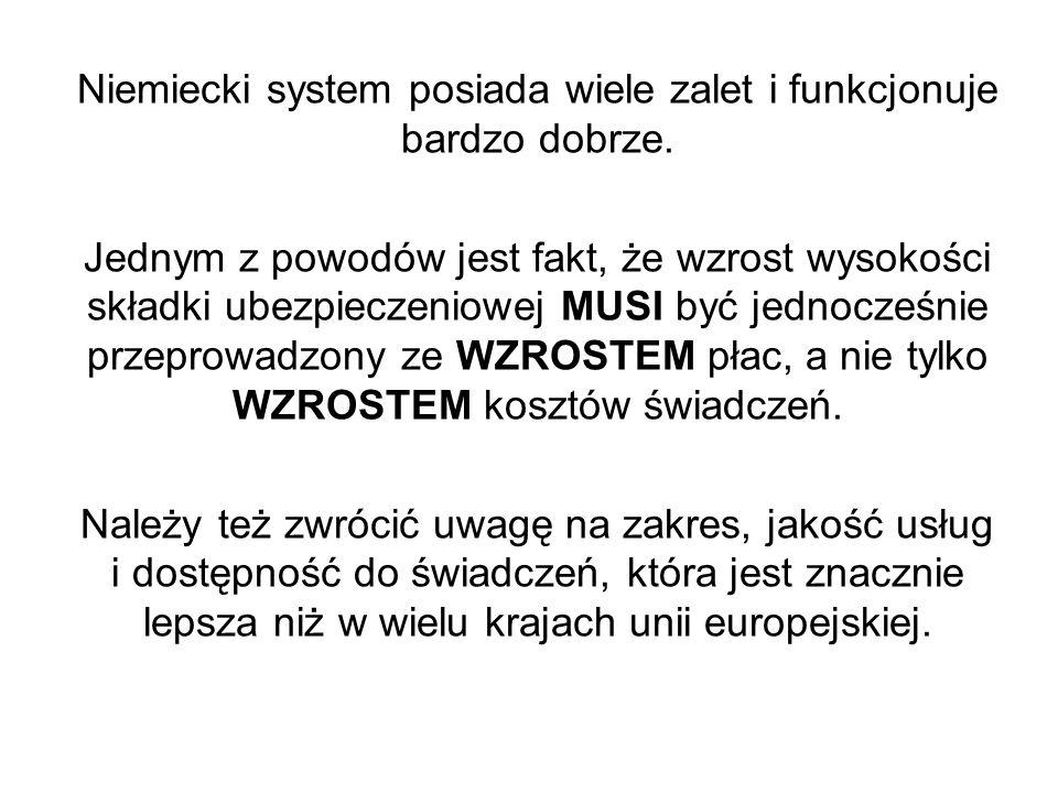 Niemiecki system posiada wiele zalet i funkcjonuje bardzo dobrze.