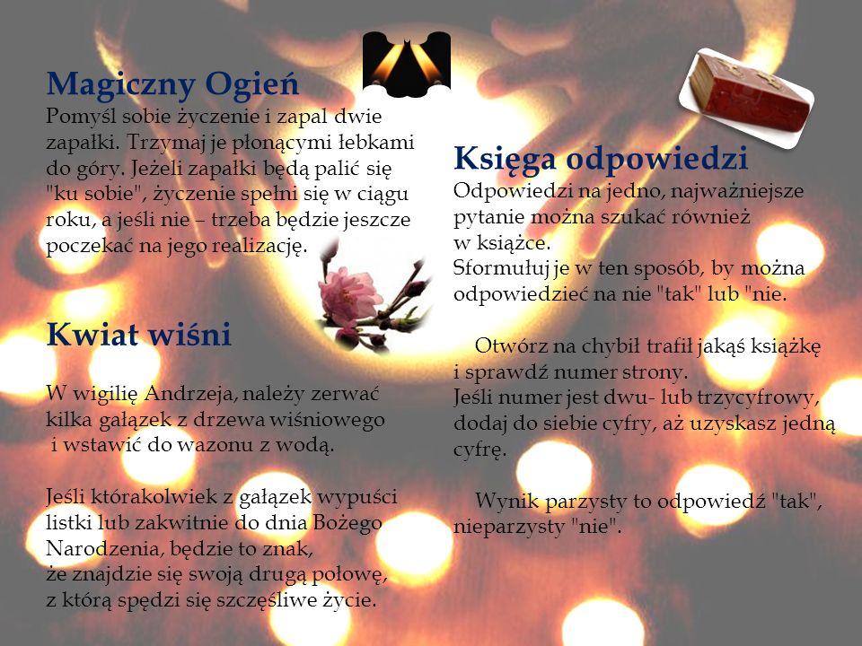 Magiczny Ogień Księga odpowiedzi Kwiat wiśni