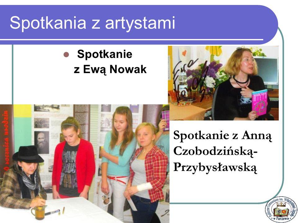 Spotkania z artystami Spotkanie z Anną Czobodzińską-Przybysławską