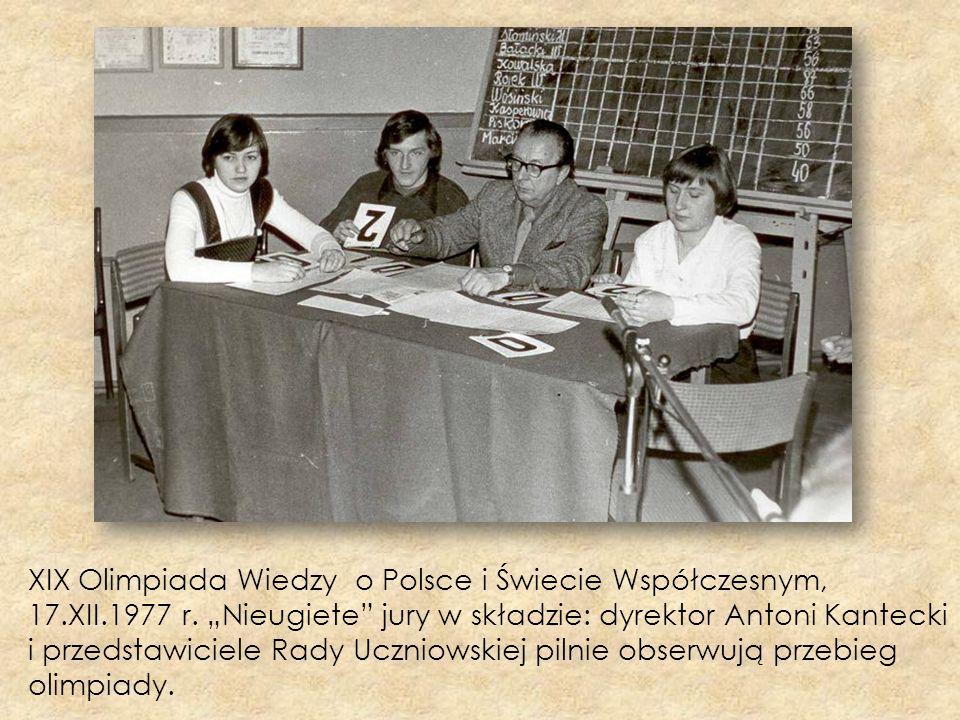 XIX Olimpiada Wiedzy o Polsce i Świecie Współczesnym, 17. XII. 1977 r