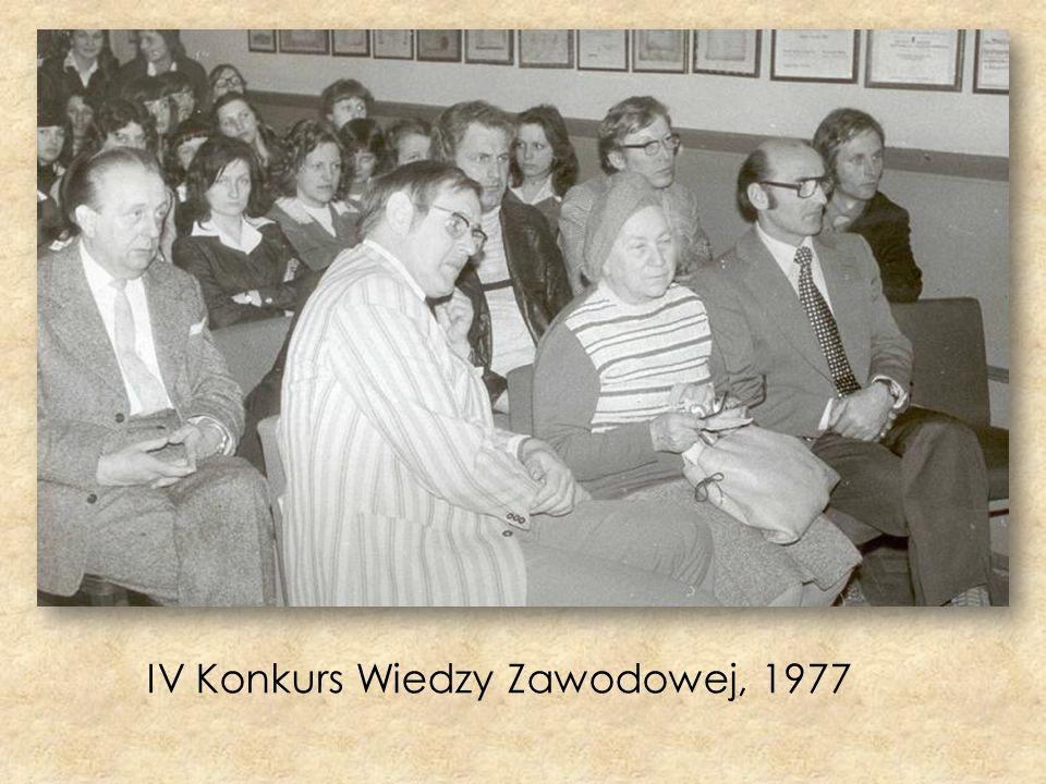 IV Konkurs Wiedzy Zawodowej, 1977