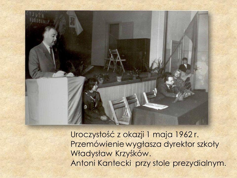 Uroczystość z okazji 1 maja 1962 r