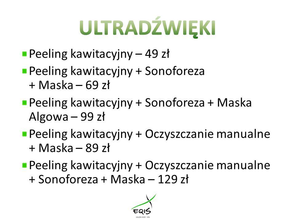 ULTRADŹWIĘKI Peeling kawitacyjny – 49 zł