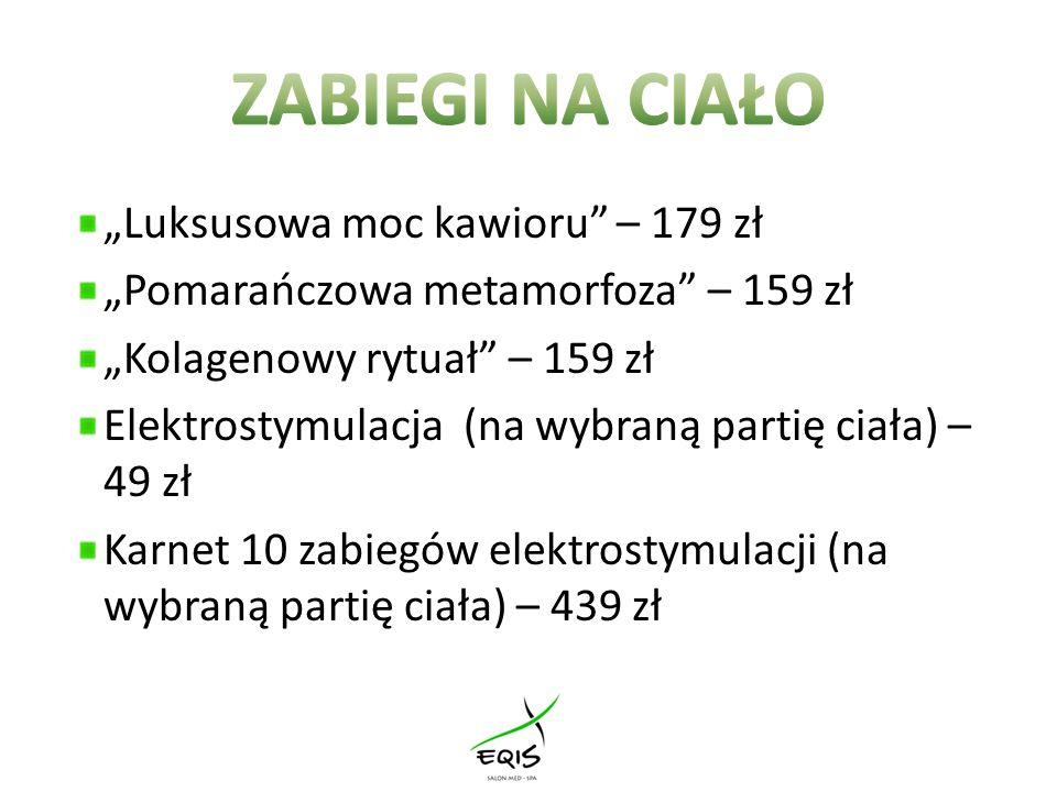 """ZABIEGI NA CIAŁO """"Luksusowa moc kawioru – 179 zł"""