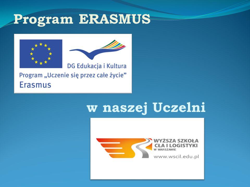 Program ERASMUS w naszej Uczelni