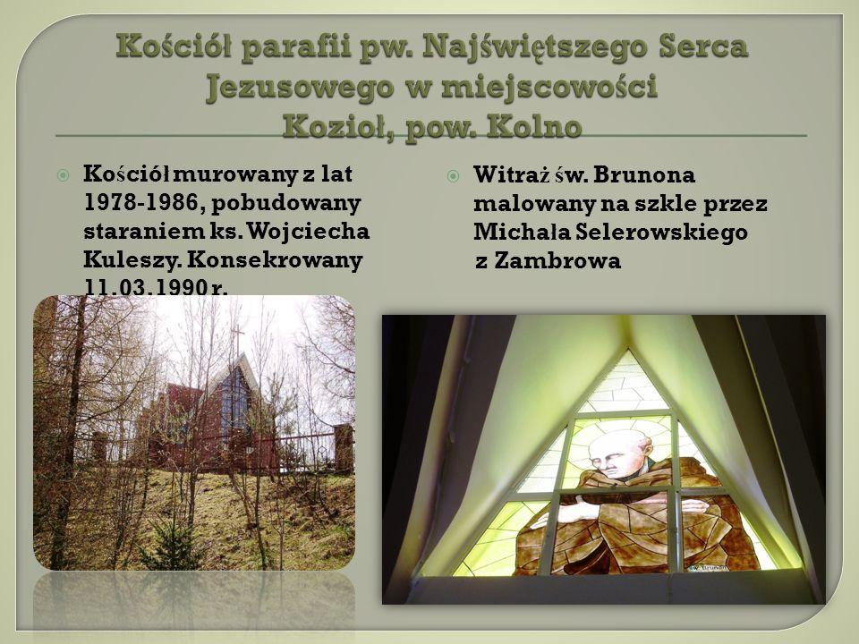 Kościół parafii pw. Najświętszego Serca Jezusowego w miejscowości Kozioł, pow. Kolno