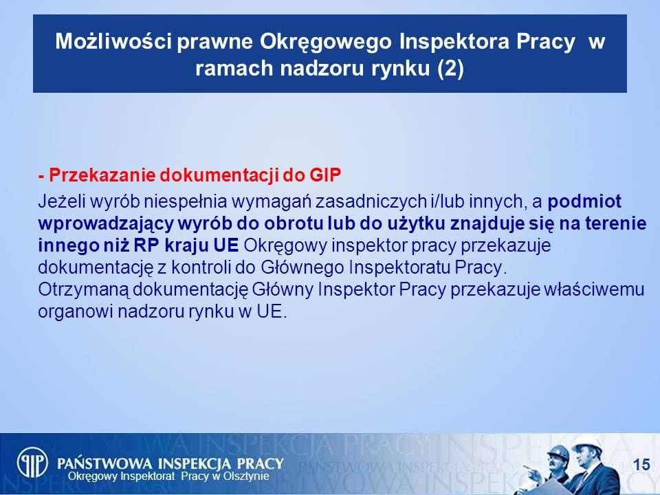 Możliwości prawne Okręgowego Inspektora Pracy w ramach nadzoru rynku (2)