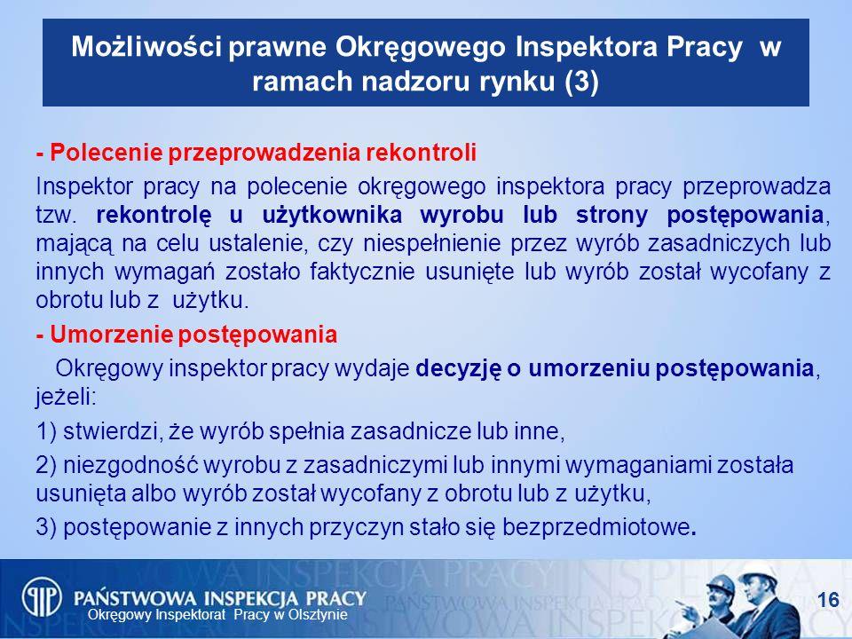 Możliwości prawne Okręgowego Inspektora Pracy w ramach nadzoru rynku (3)