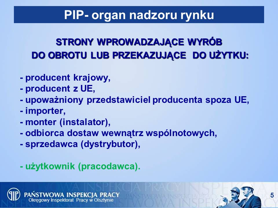 PIP- organ nadzoru rynku