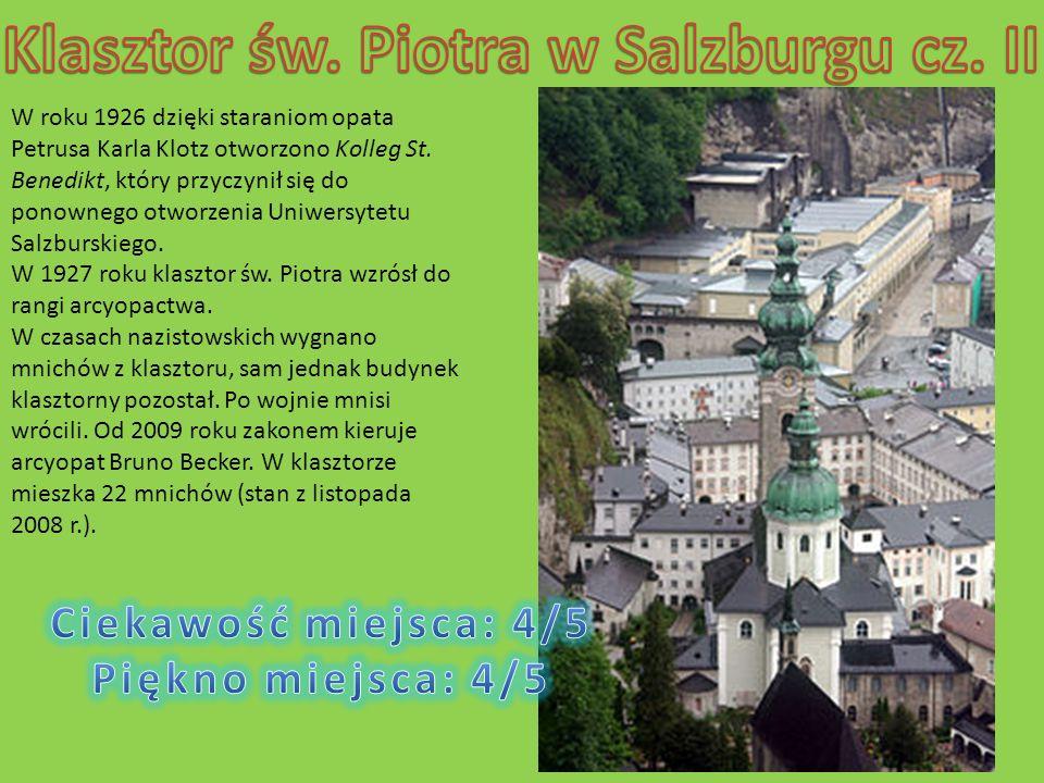 Klasztor św. Piotra w Salzburgu cz. II