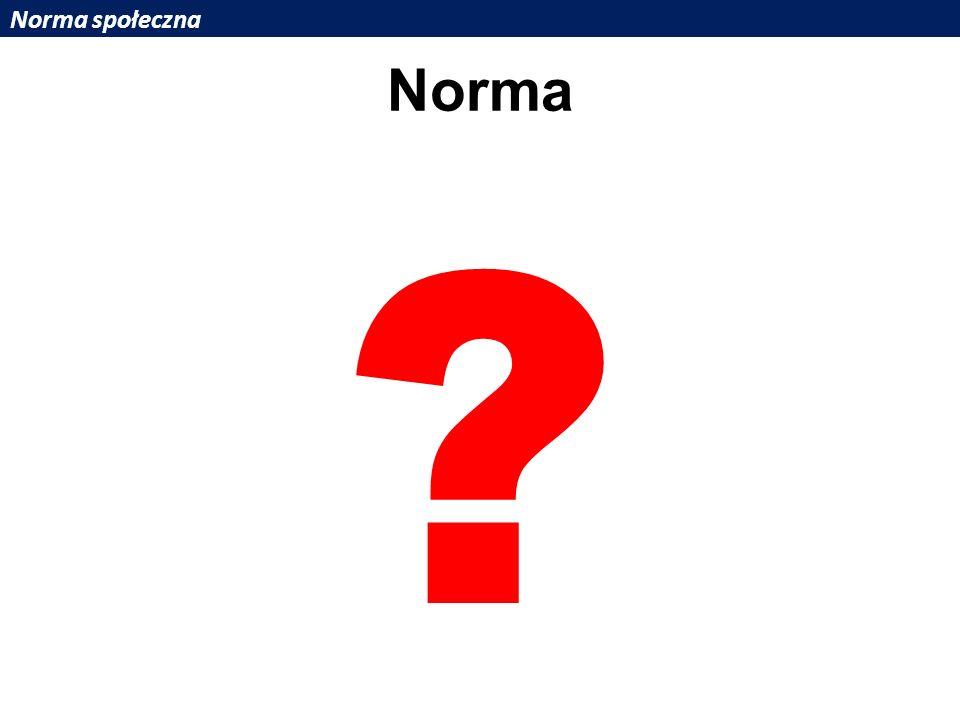 Norma społeczna Norma