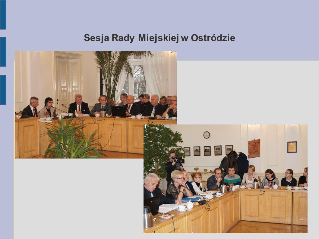 Sesja Rady Miejskiej w Ostródzie