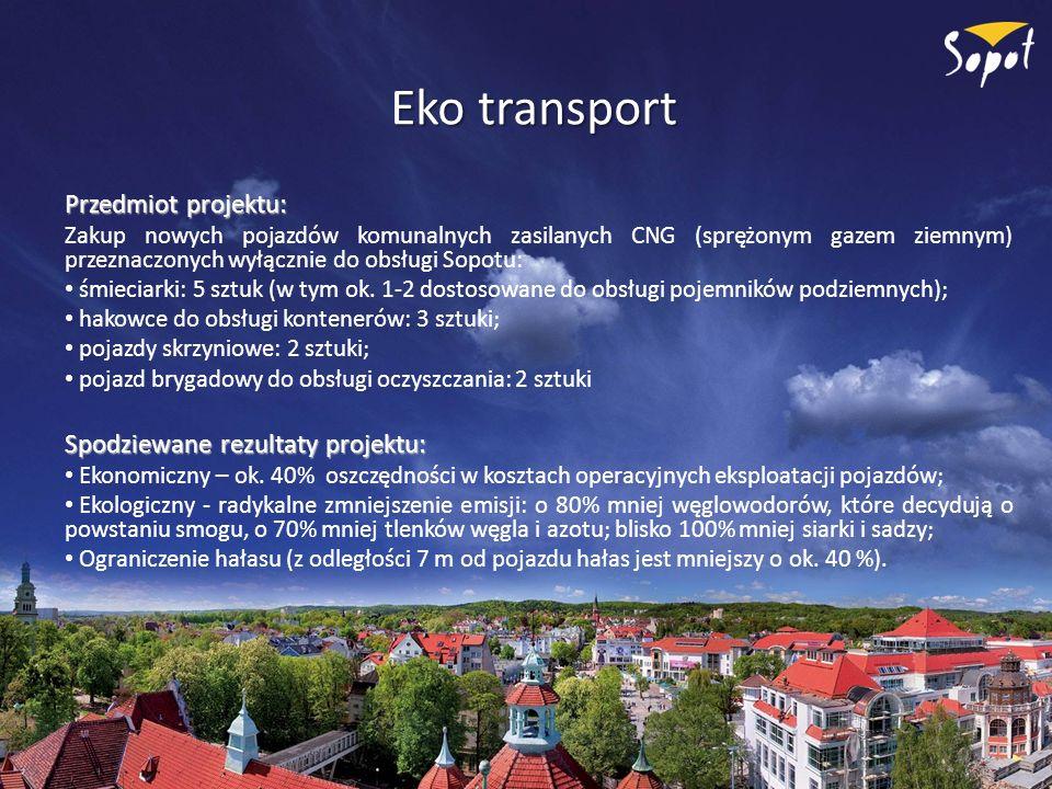 Eko transport Przedmiot projektu: Spodziewane rezultaty projektu: