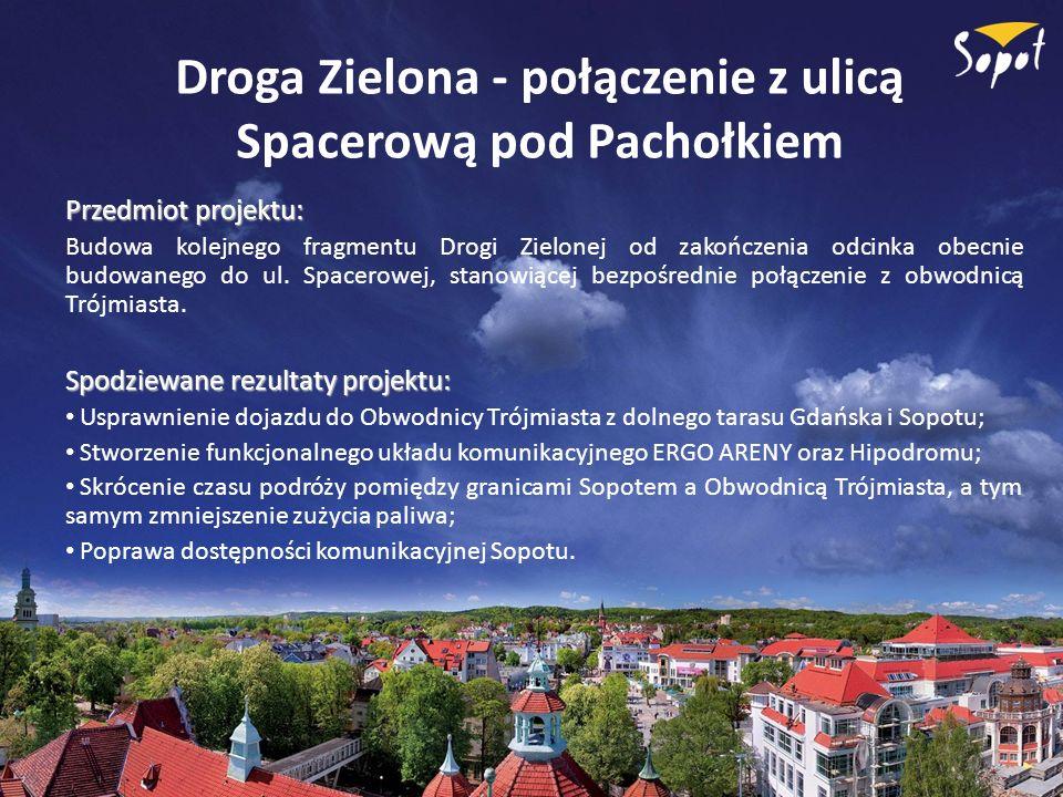 Droga Zielona - połączenie z ulicą Spacerową pod Pachołkiem