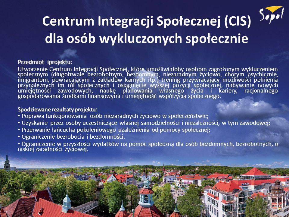 Centrum Integracji Społecznej (CIS) dla osób wykluczonych społecznie
