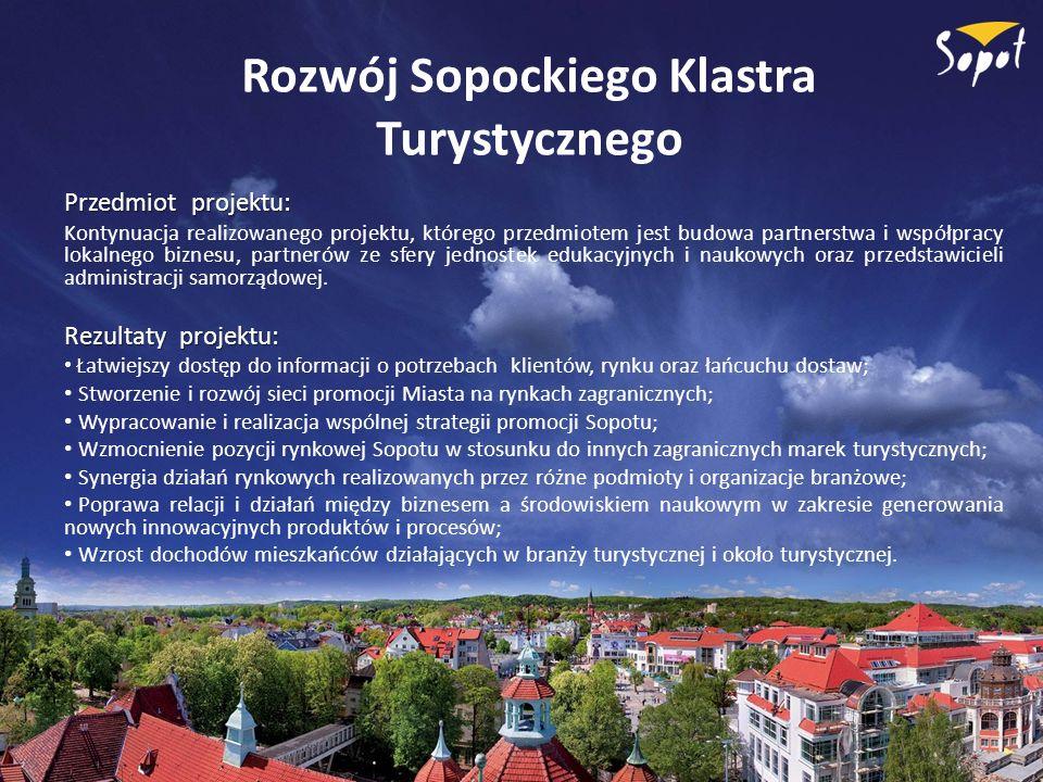 Rozwój Sopockiego Klastra Turystycznego