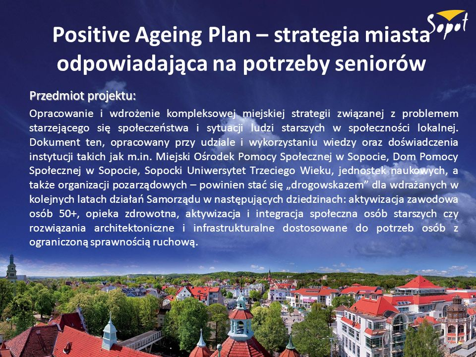 Positive Ageing Plan – strategia miasta odpowiadająca na potrzeby seniorów