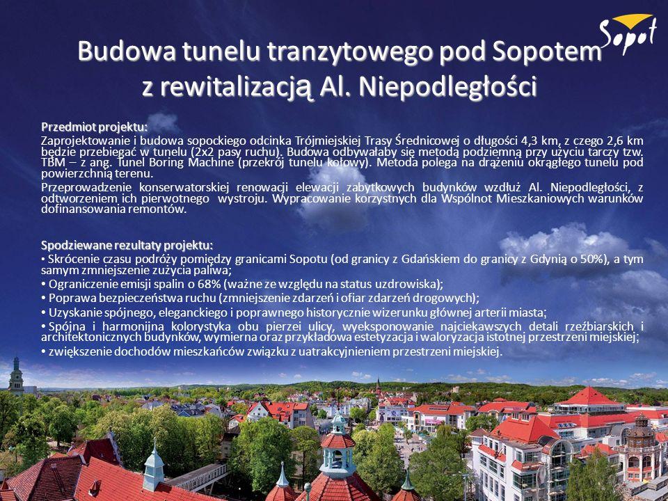 Budowa tunelu tranzytowego pod Sopotem z rewitalizacją Al