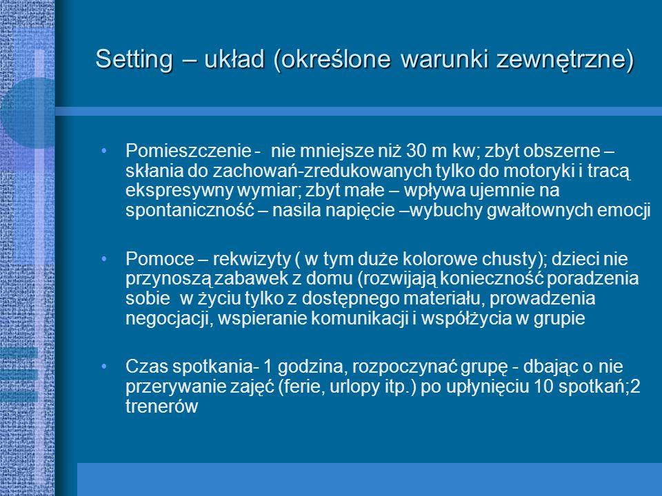 Setting – układ (określone warunki zewnętrzne)