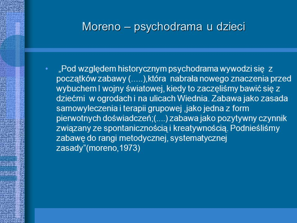 Moreno – psychodrama u dzieci
