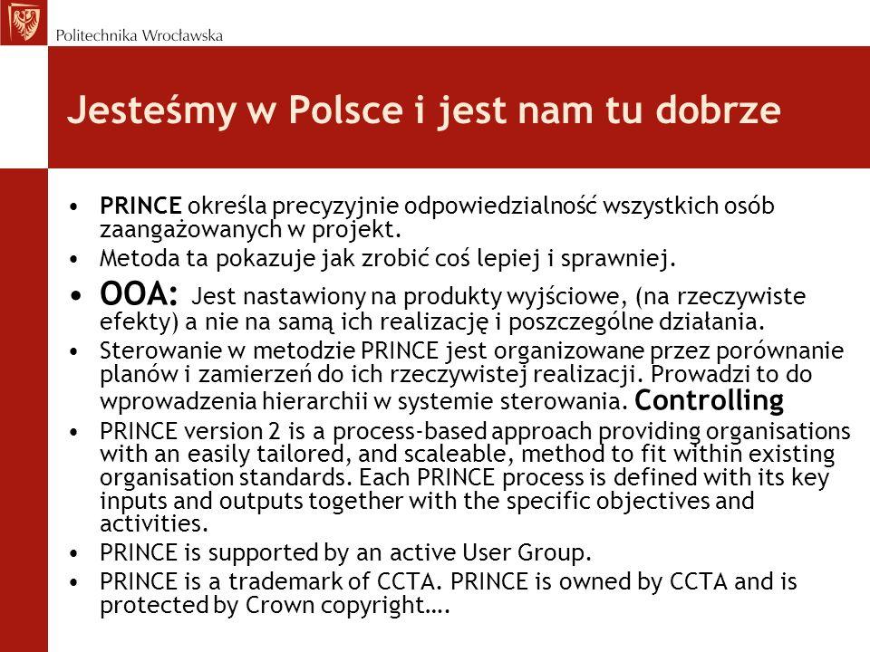 Jesteśmy w Polsce i jest nam tu dobrze