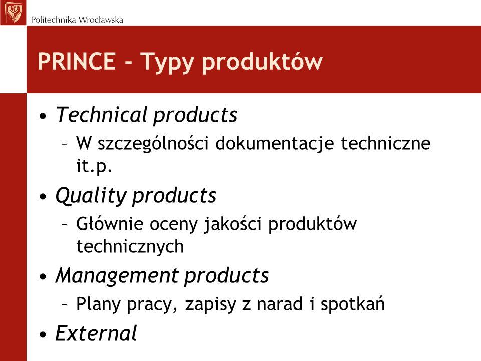 PRINCE - Typy produktów