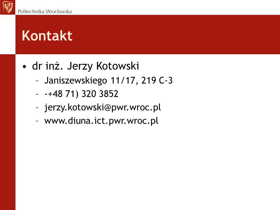 Kontakt dr inż. Jerzy Kotowski Janiszewskiego 11/17, 219 C-3