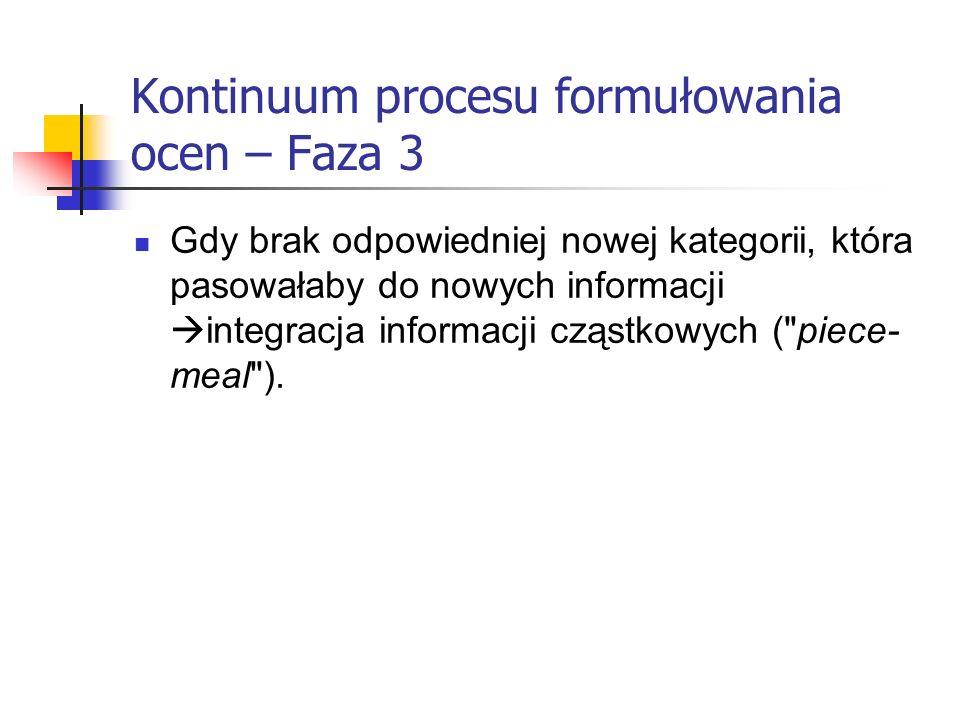 Kontinuum procesu formułowania ocen – Faza 3