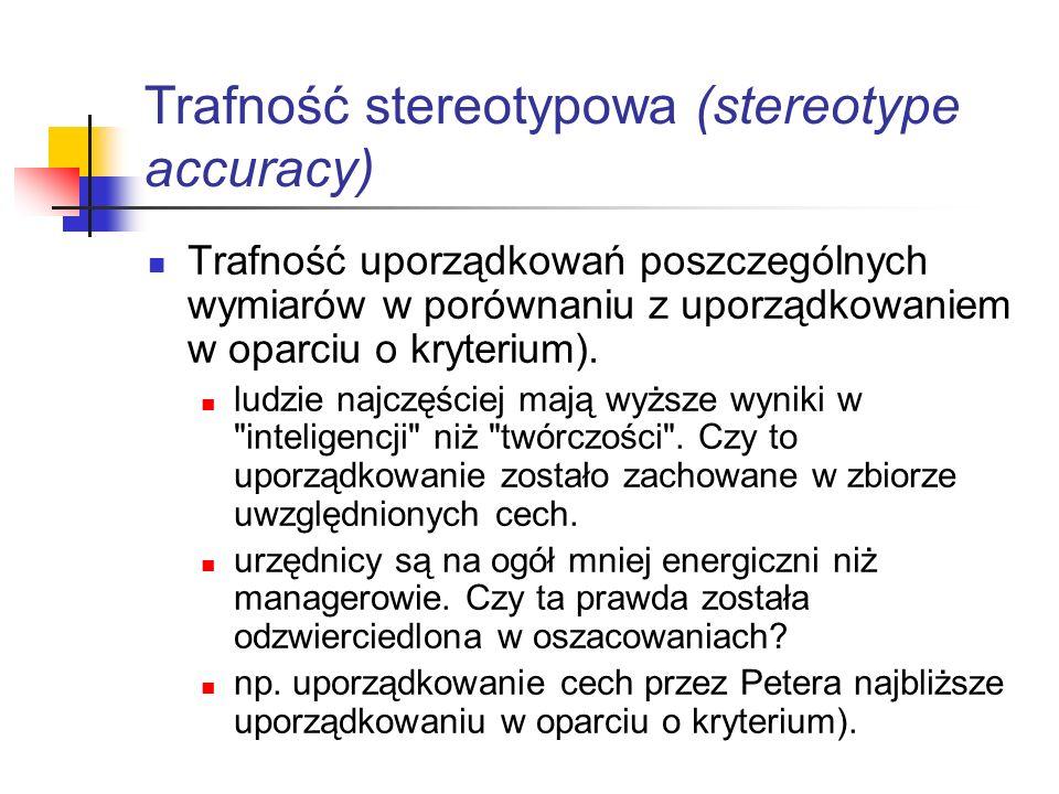 Trafność stereotypowa (stereotype accuracy)