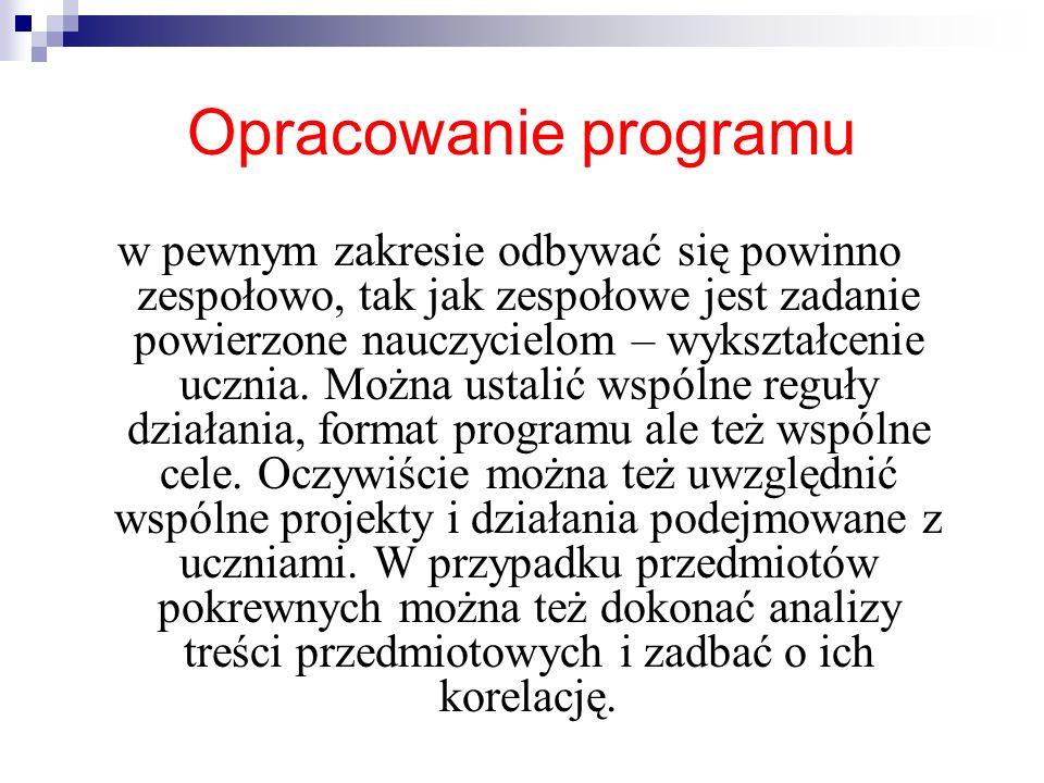 Opracowanie programu