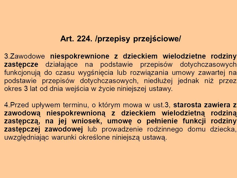 Art. 224. /przepisy przejściowe/