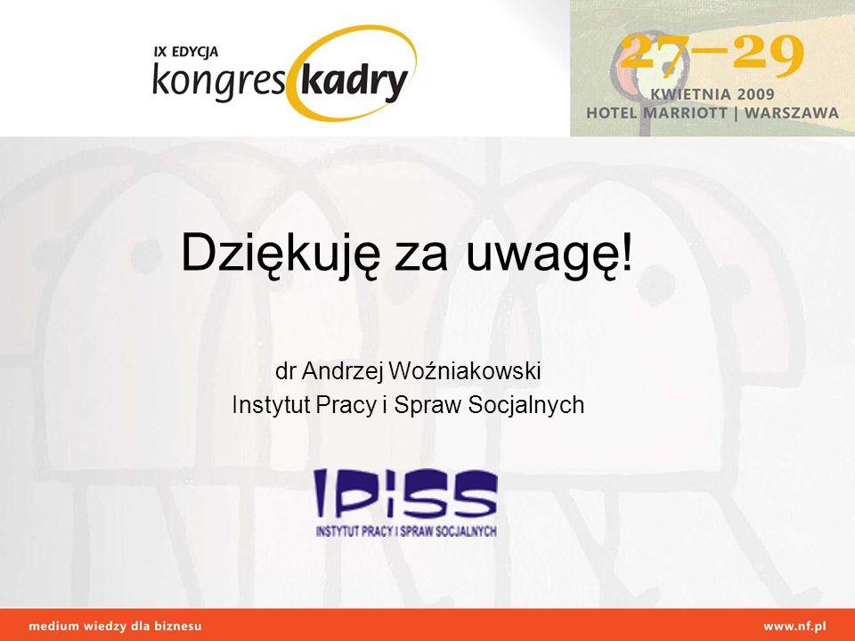 Dziękuję za uwagę! dr Andrzej Woźniakowski